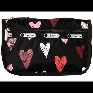 Le Sportsac Passion Hearts Travel Cosmetic Bag